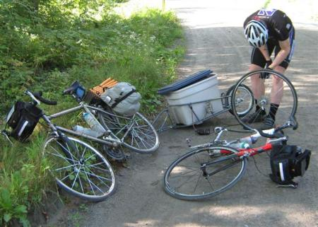 Bob Trailer and Tote (handy for carrying an extra tire)