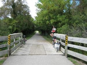 Rest stop on a the rail trail