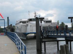 Lake Express ferry arrives