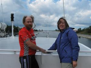 Cruising through the channel to Lake michigan