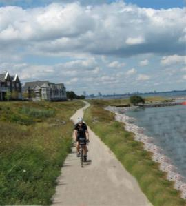 Recreational trail along Lake Michigan